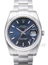 Rolex Perpetual Date Blå/Stål Ø34 mm