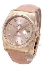 Rolex Datejust 36 Rosa/Lær