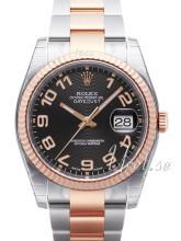 Rolex Datejust 36 Sort/Stål