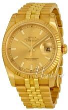 Rolex Datejust 36 Champagnefarget/18 karat gult gull