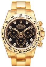 Rolex Cosmograph Daytona Sort/18 karat gult gull Ø40 mm