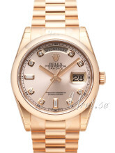 Rolex Day-Date 36 Rosa/18 karat rosé gull