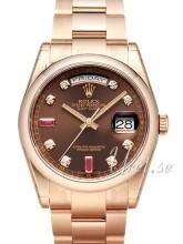 Rolex Day-Date 36 Brun/18 karat rosé gull