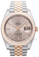 Rolex Datejust41 Sølvfarget/18 karat rosé gull