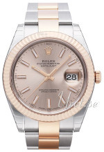 Rolex Datejust41 Sølvfarget/18 karat rosé gull Ø41 mm