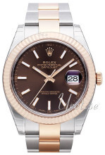 Rolex Datejust41 Brun/18 karat rosé gull