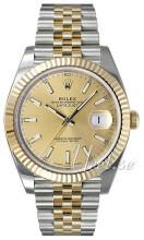 Rolex Datejust41 Gulltonet/18 karat gult gull Ø41 mm