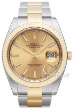 Rolex Datejust41 Gulltonet/18 karat gult gull