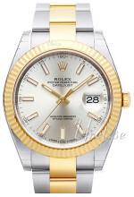 Rolex Datejust41 Sølvfarget/18 karat gult gull