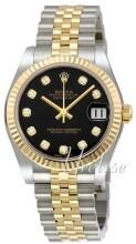 Rolex Datejust 31 Sort/Stål