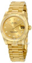 Rolex Datejust 31 Champagnefarget/18 karat gult gull