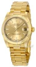 Rolex Datejust 31 Champagnefarget/18 karat gult gull Ø31 mm