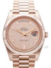 Rolex Day-Date 40 Rosa/18 karat rosé gull