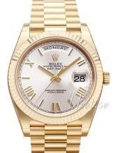 Rolex Day-Date 40 Sølvfarget/18 karat gult gull