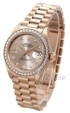 Rolex Lady-Datejust 28 Champagnefarget/18 karat rosé gull
