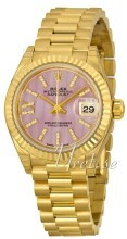 Rolex Lady-Datejust 28 Lilla/18 karat gult gull