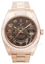 Rolex Perpetual 42 Brun/18 karat rosé gull Ø42 mm