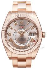 Rolex Perpetual 42 Rosegullfarget/18 karat rosé gull Ø42 mm