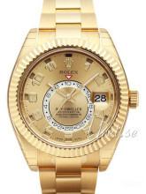 Rolex Sky-Dweller Gulltonet/18 karat gult gull Ø42 mm