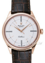Rolex Cellini Time Hvit/Lær