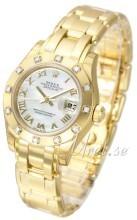 Rolex Pearlmaster 29 Hvit/18 karat gult gull