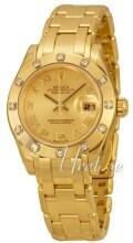 Rolex Pearlmaster 29 Champagnefarget/18 karat gult gull
