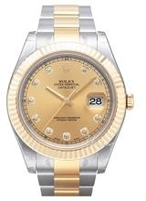 Rolex Datejust II Champagnefarget/18 karat gult gull Ø41 mm
