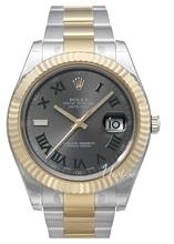 Rolex Datejust II Sølvfarget/18 karat gult gull Ø41 mm