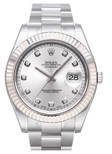 Rolex Datejust II Sølvfarget/Stål Ø41 mm