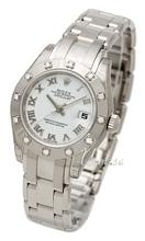 Rolex Lady Datejust Pearlmaster Hvit/18 karat hvitt gull Ø29 mm