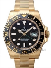 Rolex GMT-Master II Sort/18 karat gult gull Ø40 mm