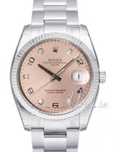 Rolex Perpetual Date Silver Dial Diamond Oyster Bracelet
