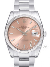 Rolex Perpetual Date Pink Dial Oyster Bracelet