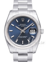 Rolex Perpetual Date Blue Dial Oyster Bracelet