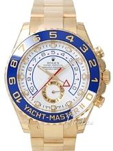 Rolex Yacht-Master Hvit/18 karat gult gull Ø44 mm