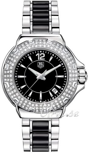 TAG Heuer Formula 1 Steel And Ceramic Full Diamonds Sort/Keramik