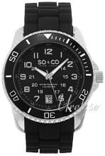 So & Co New York Yacht Timer Sort/Gummi Ø42 mm