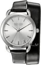 So & Co New York SoHo Sølvfarget/Lær Ø36 mm