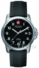 Swiss Military Dress Sort/Lær Ø39 mm