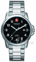 Swiss Military Dress Sort/Stål Ø39 mm