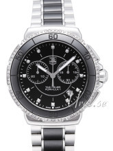 TAG Heuer Formula 1 Steel And Ceramic Chronograph Diamonds Sort/