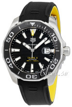 TAG Heuer Aquaracer Sort/Gummi