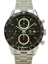 TAG Heuer Carrera Calibre 16 Automatic Chronograph Sort/Stål Ø4