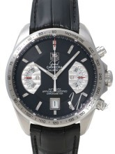 TAG Heuer Grand Carrera Calibre 17 Automatic Chronograph Sort/Læ