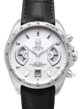 TAG Heuer Grand Carrera Calibre 17 Automatic Chronograph Hvit/Læ