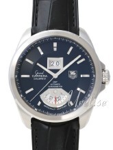 TAG Heuer Grand Carrera Calibre 8RS Grande Date And GMT Sort/Lær