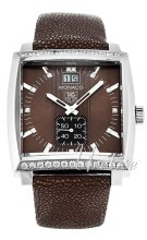 TAG Heuer Monaco Grande Date Diamond Dial And Case Brun/Lær 37.5