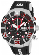 Technomarine Reef Black Sort/Gummi Ø45 mm