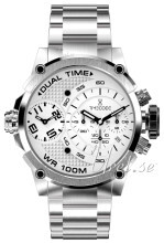 Timecode Hvit/Stål Ø46 mm