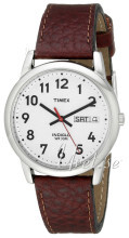 Timex Easy Reader Sølvfarget/Lær Ø35 mm